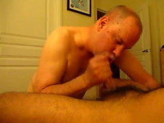 Latino Dom Returns For More Cock Worshiping.