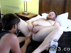 Gay men double fisting Sky Works Brock's Hole with his Fist