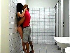 Banging tranny in toilet