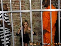 Ho fucking black inmates