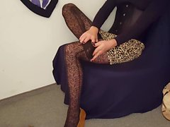 Sissy Anna #13 pantyhose high heels feet