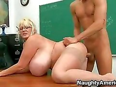 Sexually Excited Teacher Kayla Kleevage Getting Drilled On Her Meaty Snatch Until She Cums