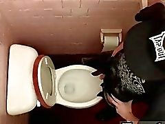 Gay clip of Unloading In The Toilet Bowl