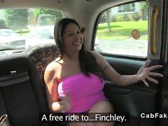 Fake taxi fucking amateur brunette