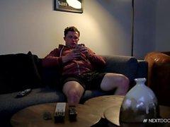 NextDoor Markie More Pinned Down by Hairy Hunk