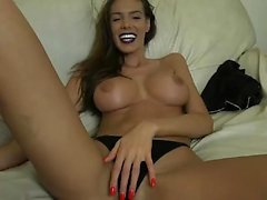 A Black MILF Showing Her Big Bouncy Boobs