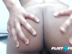 Ron Garcia on Flirt4Free - Latino Gives a Close-Up Look to His Cock and Ass