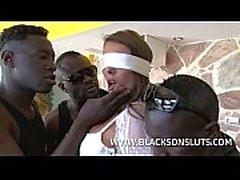 Interracial Gangbang on Hot Milf
