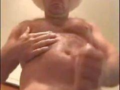 Sexy Daddy Cowboy Carolina Jim Jerks Off and Handjob Cum