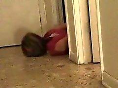 Hogcuffed bitch crawls to escape. No way to get out!