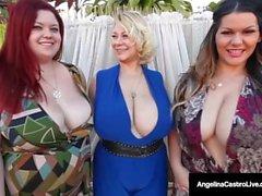 Cuba's Angelina Castro Has A FOURSOME BlowJob & 6 HUGE TITS!