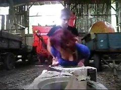 amateur bebé doggystyle al aire libre pelirrojo