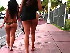 latinas in miami florida walking in thong string -voyeur ass