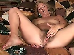MILF shows her hairy pussy - 2