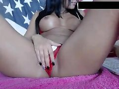 Eliza N uses toy in pussy to masturbate in hot high def