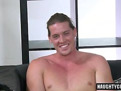 Big cock son handjob and cumshot