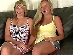Fresh sexy Russian girlfriends Eva and Kiras first audition