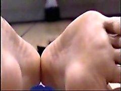 preto e ébano fetiche por pés coreano massagem
