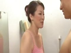 Busty Japanese Milf And Young Boys