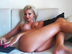 blondine reifen spielzeug webcam