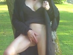 a superb milf exhibiting and gets fucked in a public park