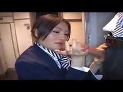 chino avión paja azafata