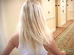 amatööri blondi runkkaus