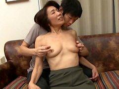 asiatico giapponese maturo doccia