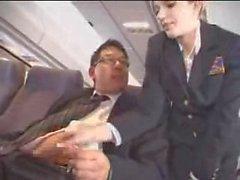 aeromoça masturbação avião