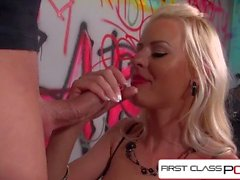 FirstClassPOV - Lyanna Nilsson sucking a monster cock, big boobs, big booty