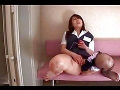 asiatique masturbation collants secrétaires