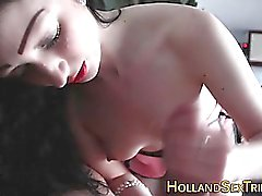 dilettante brunetta europeo handjob hd