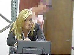 tyttö blondi hardcore julkinen
