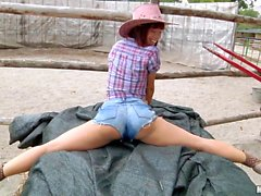 Eurobabe pounded in a ranch for cash
