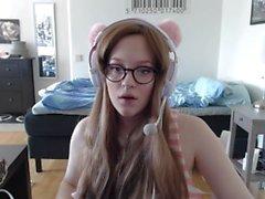 tonåring som unga stor boobs onanera cosplay övervaka dolda kamera gamer gamer