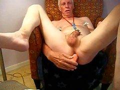 Using a dildo to cum
