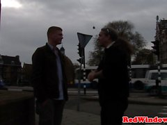 Dutch hooker cocksucking tourist before sex