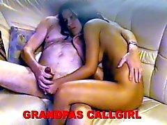 europeo morena oldman -young de chicas