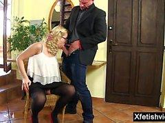 sarışın oral seks cumshot