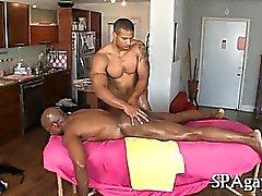Steamy sexy homosexual massage
