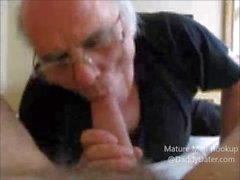 Older Man Sucks a Big Cock