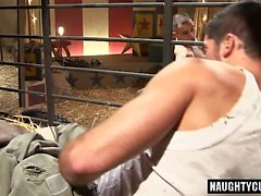 Hairy gay anal with cumshot