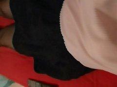 jolies dessous soyeux et mes mini jupes