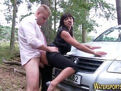Pee soaked slut fucked