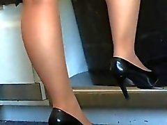 nylon shoeplay pliegue pies