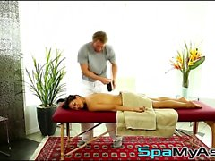 Gorgeous brunette Sara Luvv wanna teases a gay masseur