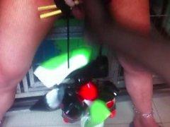 pliegue femdom asiático trabajando con el pie