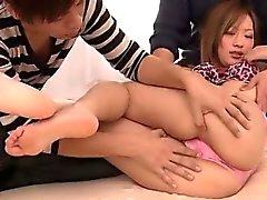 asiático mamada cremita digitación