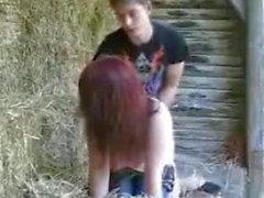 Fuck session on a farm.