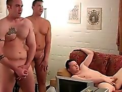 Straight amateur jocks group wanking